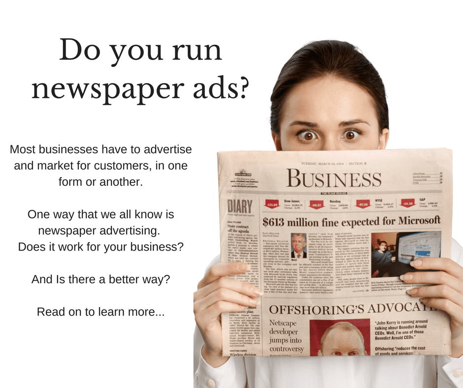 Newspaper ads versus Facebook advertising
